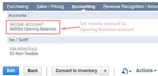 income account