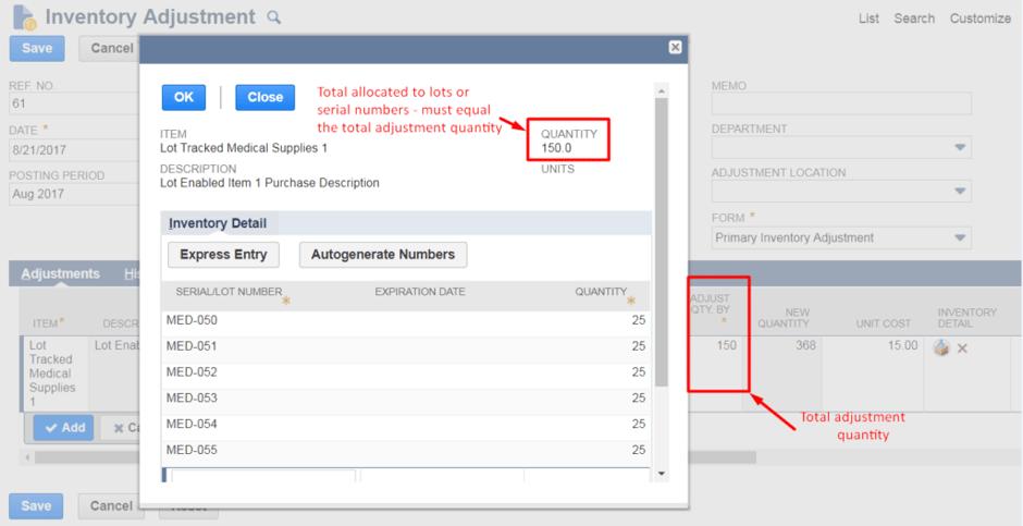 inventory worksheet item types