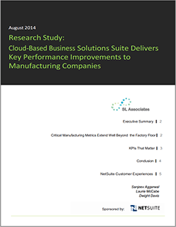 Key Performance Improvements for Manufacturing Firms