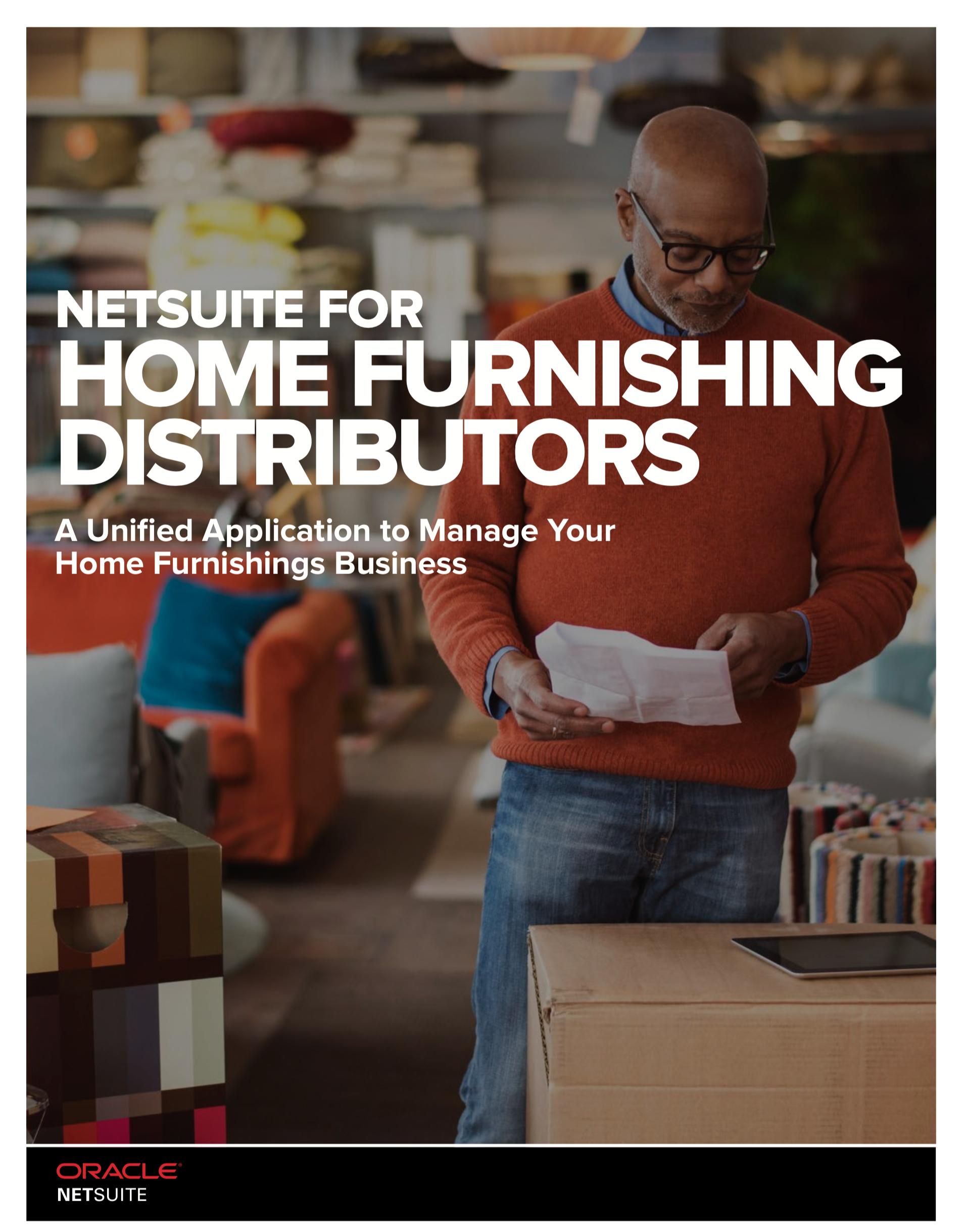 NetSuite for Home Furnishing Distributors