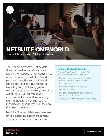 NetSuite OneWorld