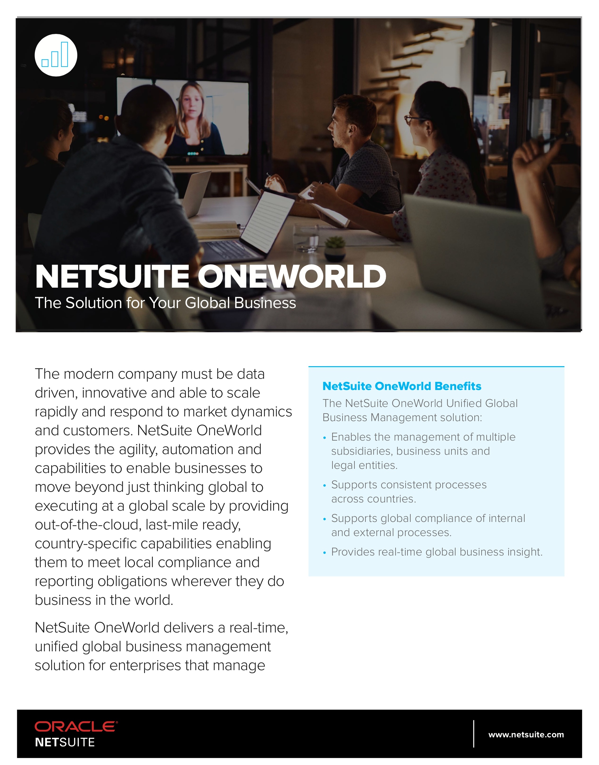 NETSUITE ONEWORLD The Solution for Your Global Business